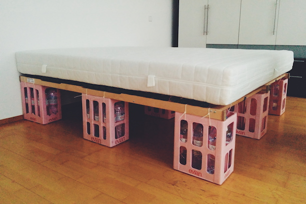 DIY Bottle Crate Bed Frame