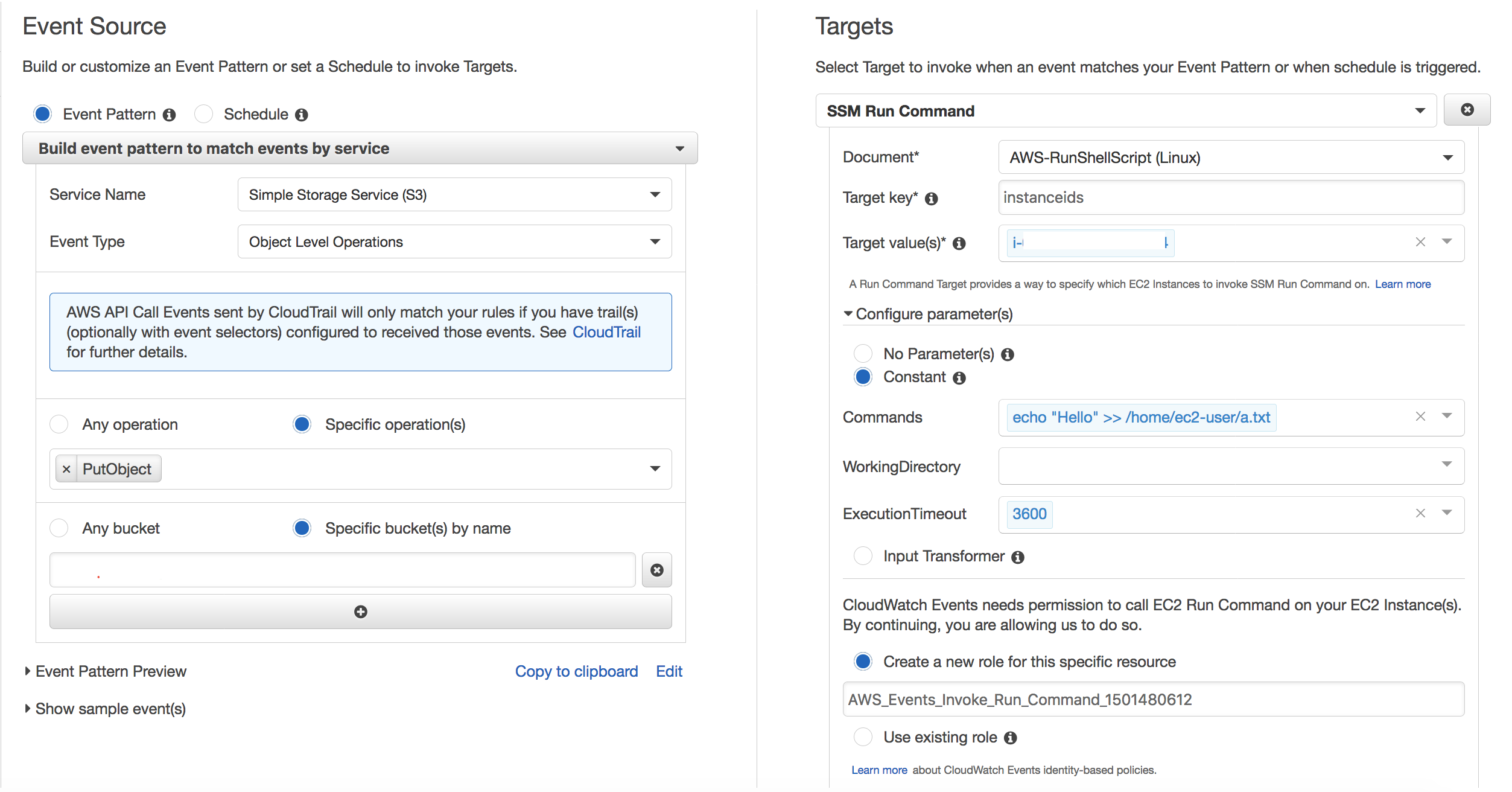 Trigger Actions Inside EC2 Instance on Cloudwatch Events using AWS