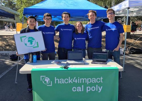 Cal Poly chapter demoing their project during demo day