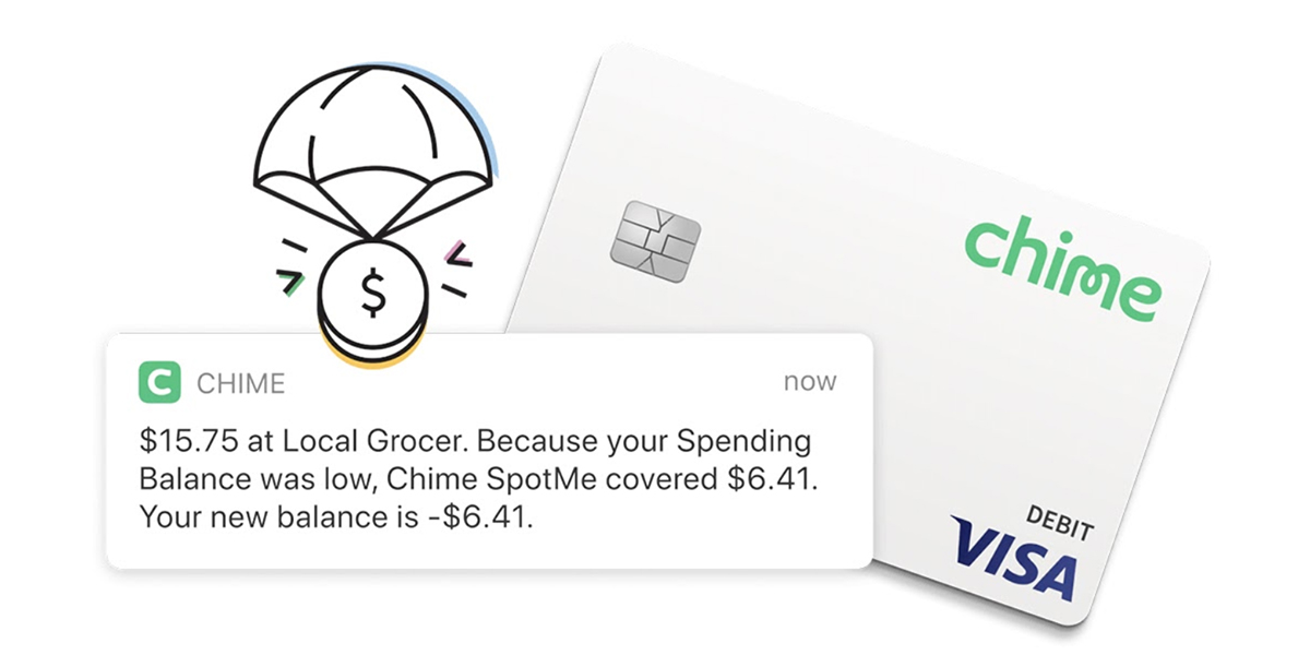 Chime SpotMe Cover Your Overdraft And Chime Visa Debit Card
