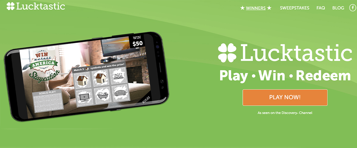 Lucktastic Play Win Redeem Mobile Game Play Now