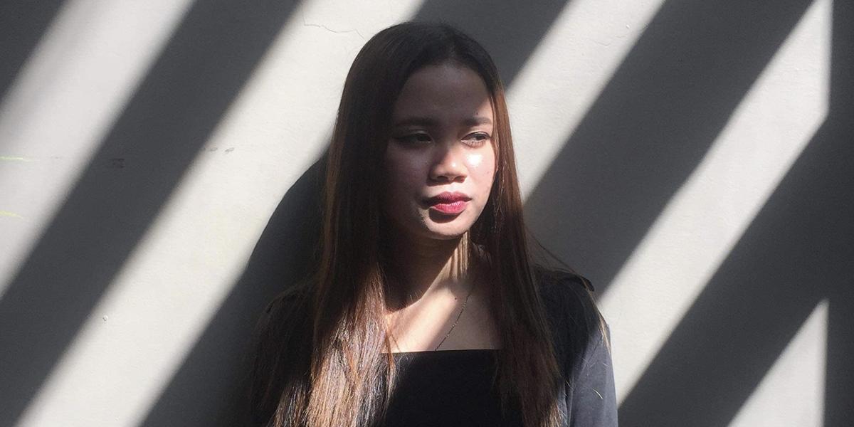 Girl in shade