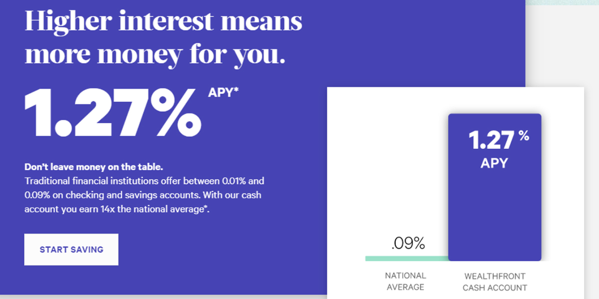 Higher interest 1.27% APY Start Saving