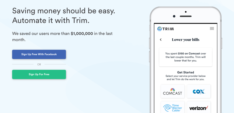 Trim - Save on Bills