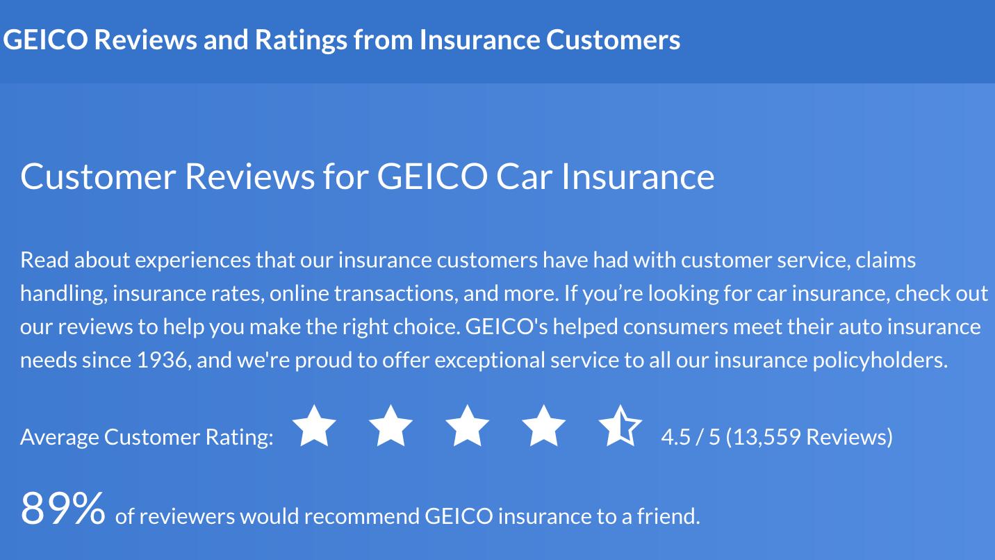 Geico reviews
