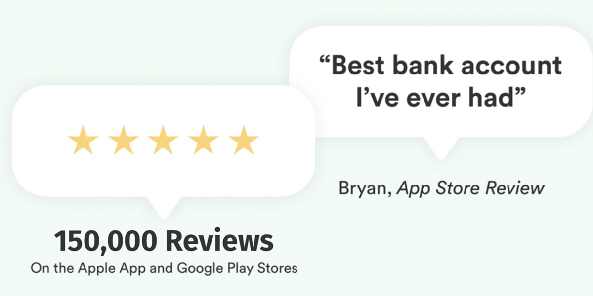 Chime Best Bank Account 150,000 5 Star Reviews