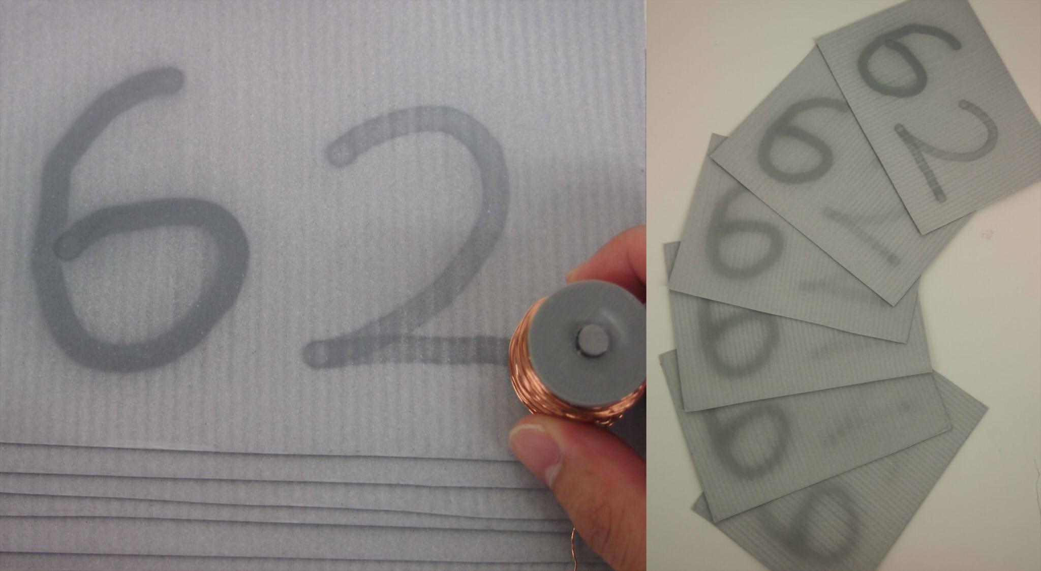 磁性シートの磁力制御に基づく積層させた複数紙面への同時描画システムのメイン画像