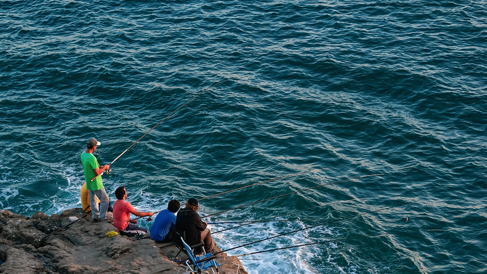 Local fishermen at Cascais