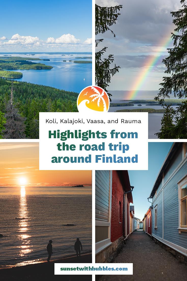 Pinterest: Highlights from the road trip around Finland: Koli, Kalajoki, Vaasa, and Rauma