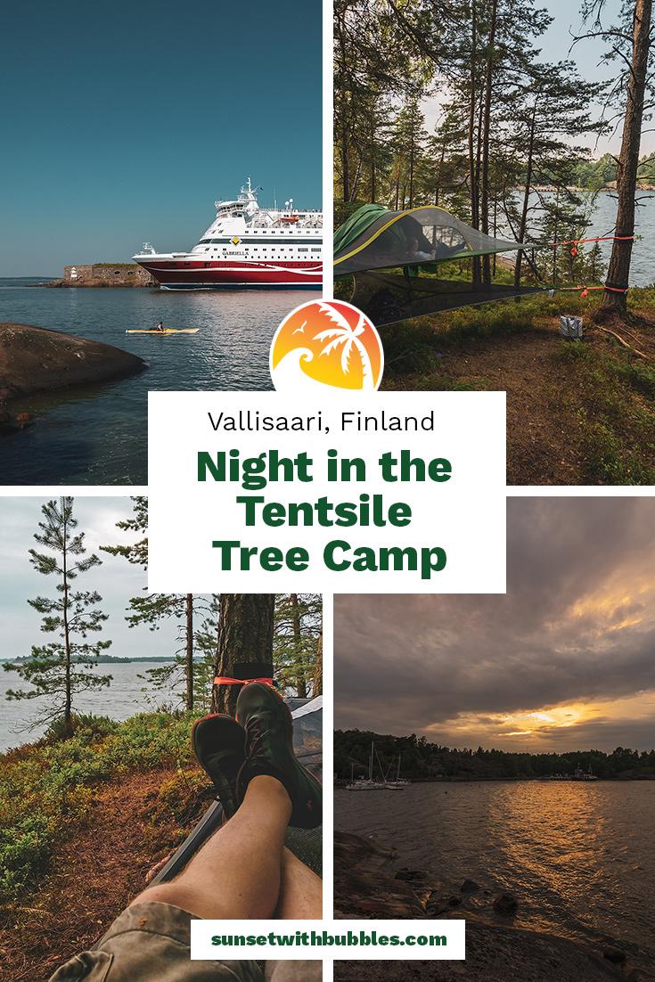 Pinterest: Night in the Tentsile Tree Camp at Vallisaari, Finland