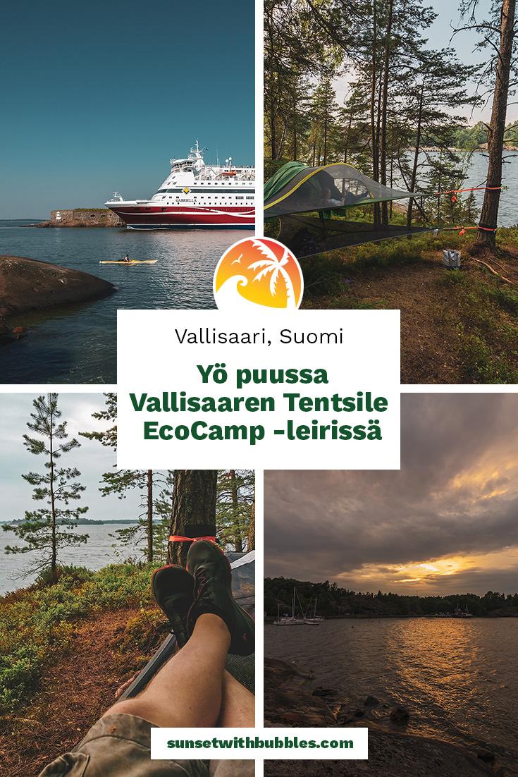 Pinterest: Yö puussa Vallisaaren Tentsile EcoCamp -leirissä