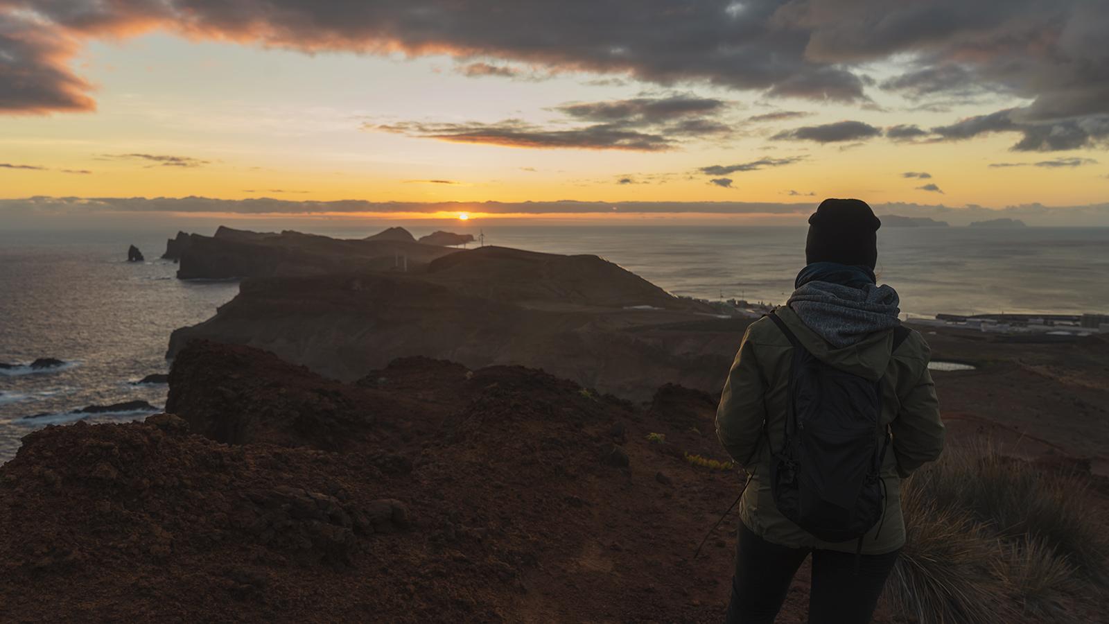 Watching the sunrise at Ponta de São Lourenço, Madeira