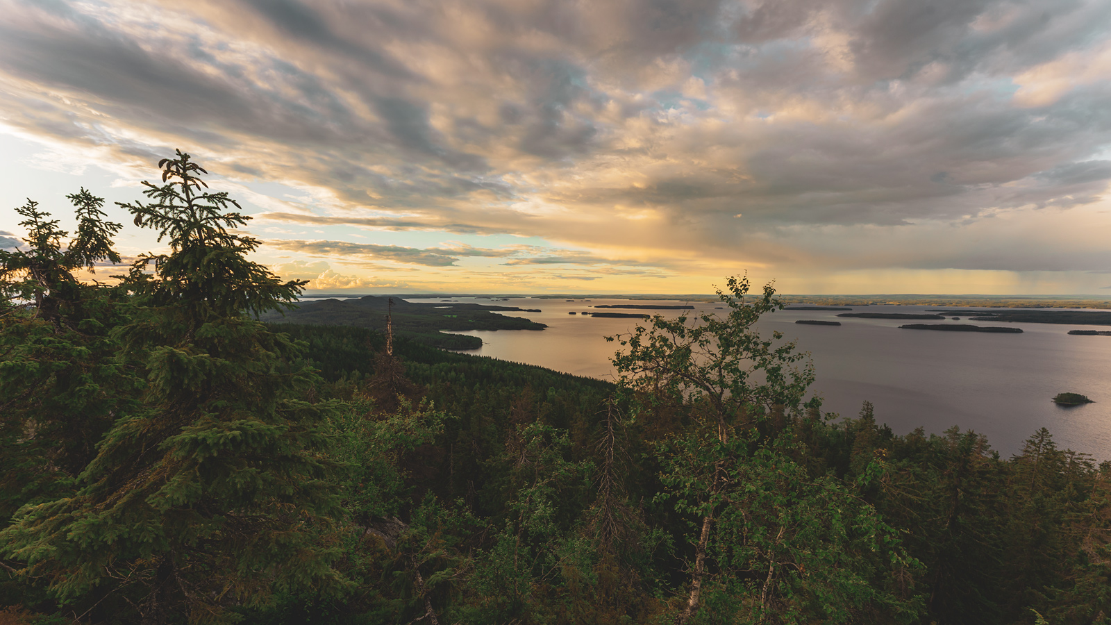 Night colors of Koli National Park and Lake Pielinen