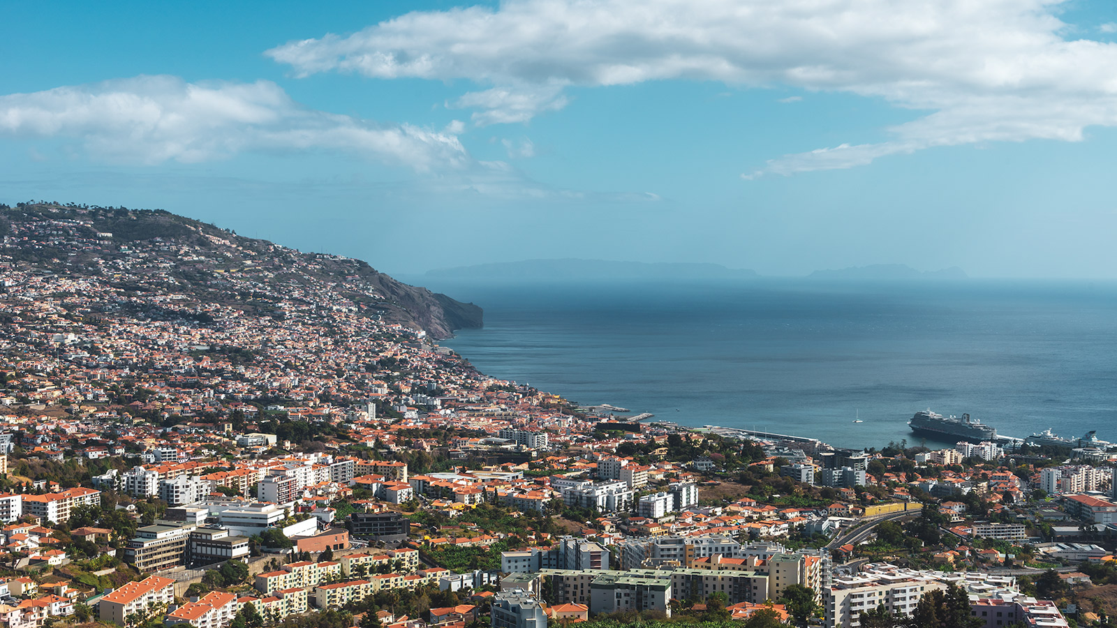 Views of Funchal from the Pico dos Barcelos viewpoint, Madeira