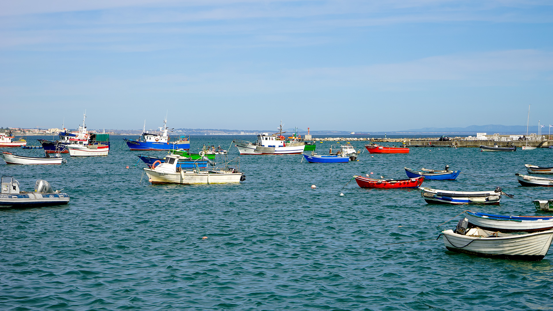 Fishing boats at Cascais