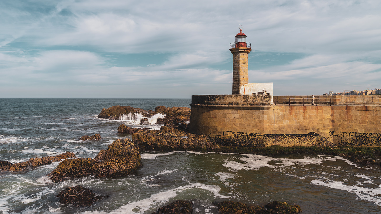 Felgueiras Lighthouse at Foz do Porto, Portugal