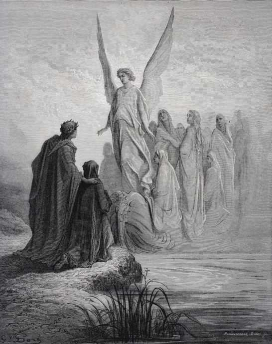 Dante's Purgatory Painting, by Gustave Dore