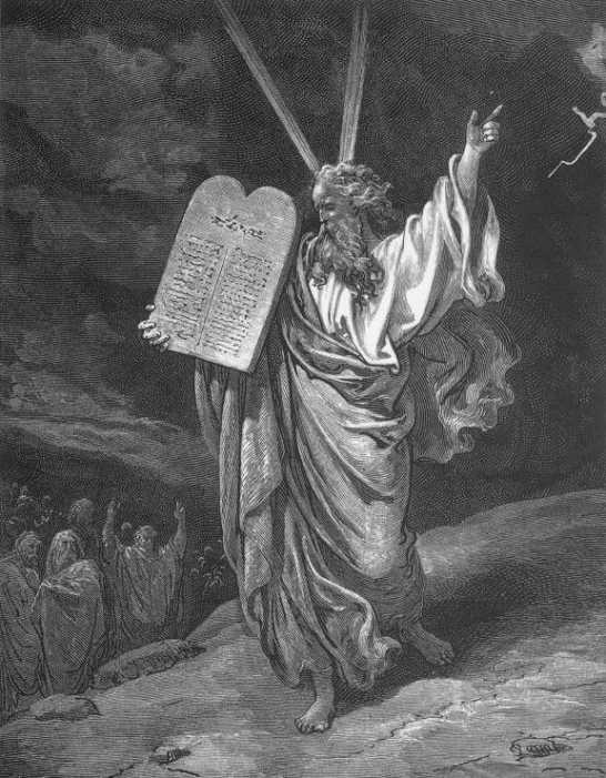 Moses Showing the Ten Commandments, by Gustave Doré