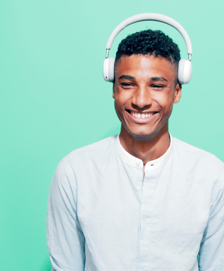 Image of a smiling guy with headphones