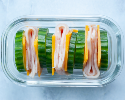 cucumber turkey and cheese sandwiches