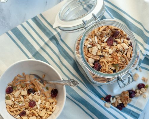 granola in different containers