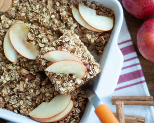 Baked Apple Maple Oatmeal Squares