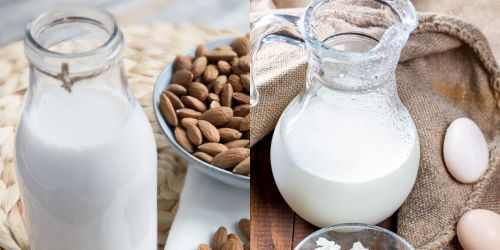 Macrostax Almond Milk vs. Whole Milk