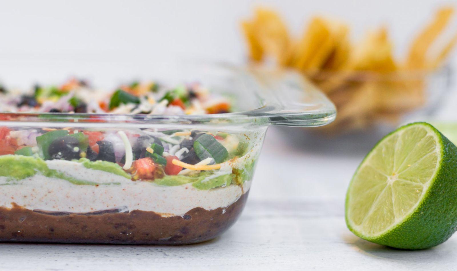 Lightened Up Seven Layer Dip