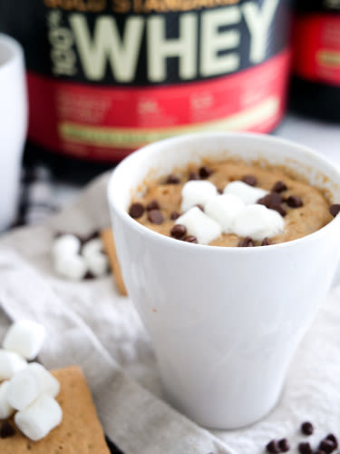Macrostax healthy macro-friendly meal prep recipes, Gimme S'More Mug Cookie