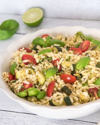 Corn and Zucchini Orzo Salad
