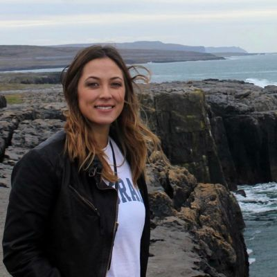 cropped pic of vanessa by ocean in ireland