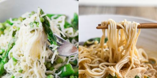 Macrostax Shirataki Noddles vs. Noodles