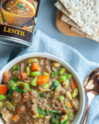 Dressed Up Lentil Soup