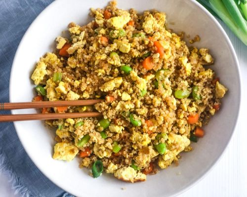 High Protein Vegan Fried Rice