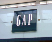 The Gap storefront with logo