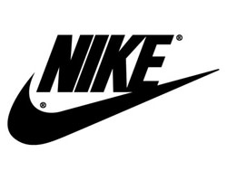 Nike Inc logo in black