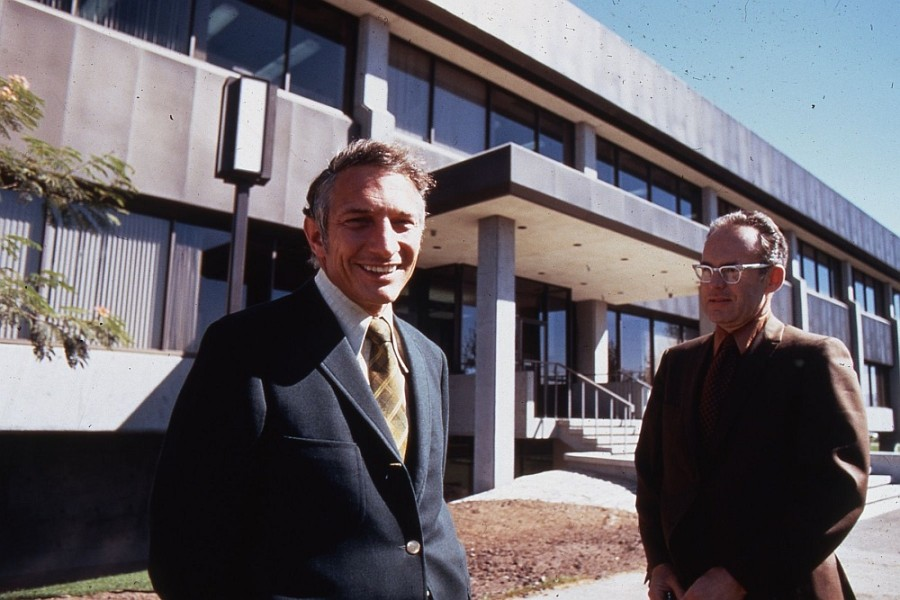A photo of Robert Noyce and Gordon Moore.