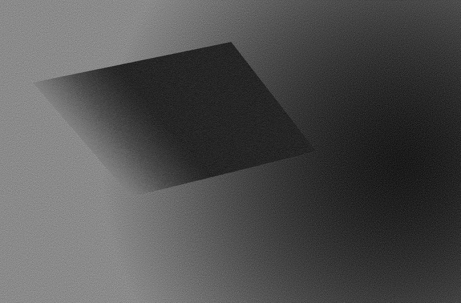 An abstract grey to black gradient parallelogram on a grey to black gradient.