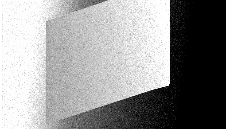 A grey to white parallelogram on a white to black gradient.