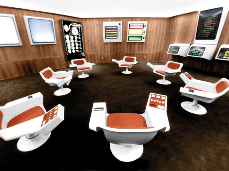 The operations room of Cybersyn.