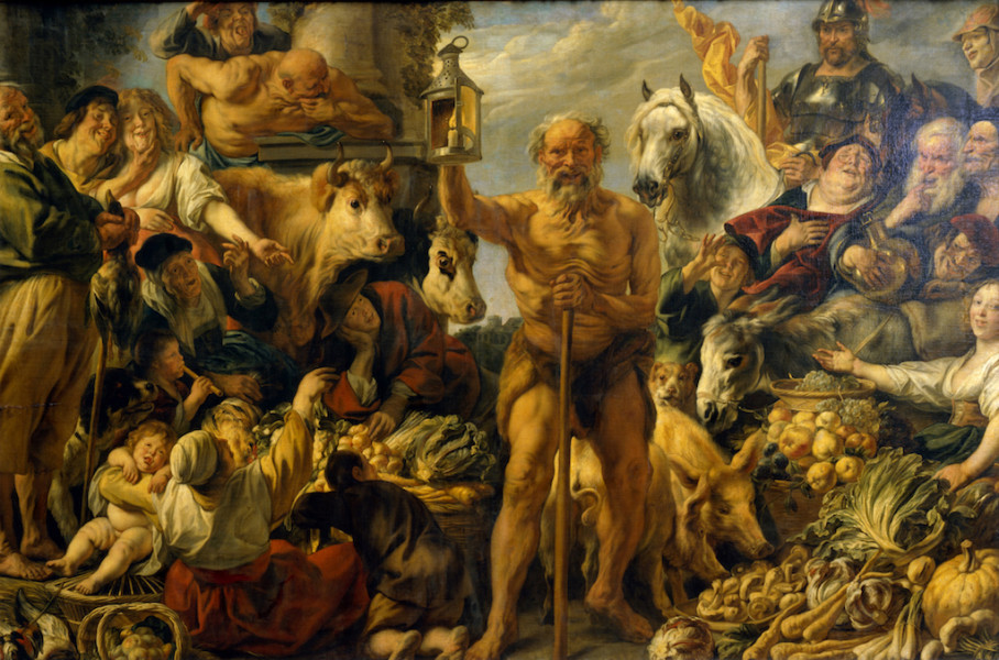 A painting of Diogenes.