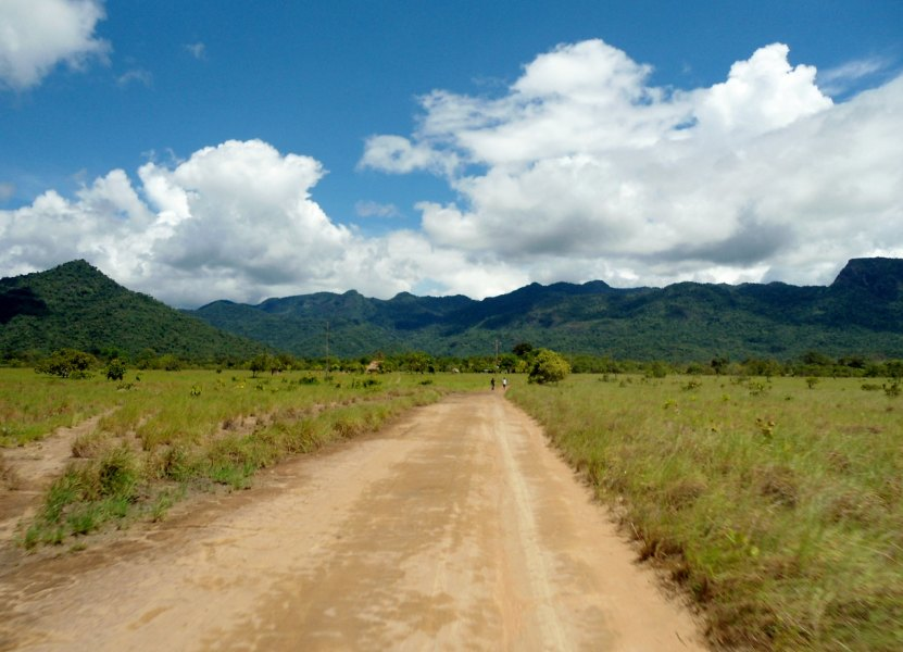 A photo of a road in South Rupununi, Guyana.