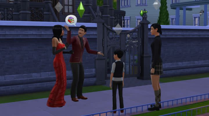 A still from The Sims