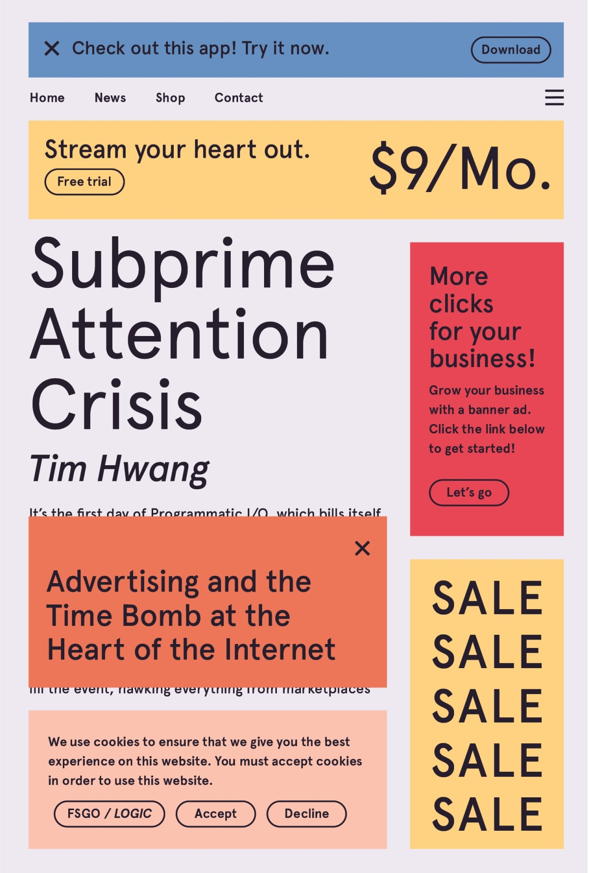 In Subprime Attention Crisis, Tim Hwang investigates the way big tech financializes attention. In the process, he shows us how digital advertising—t