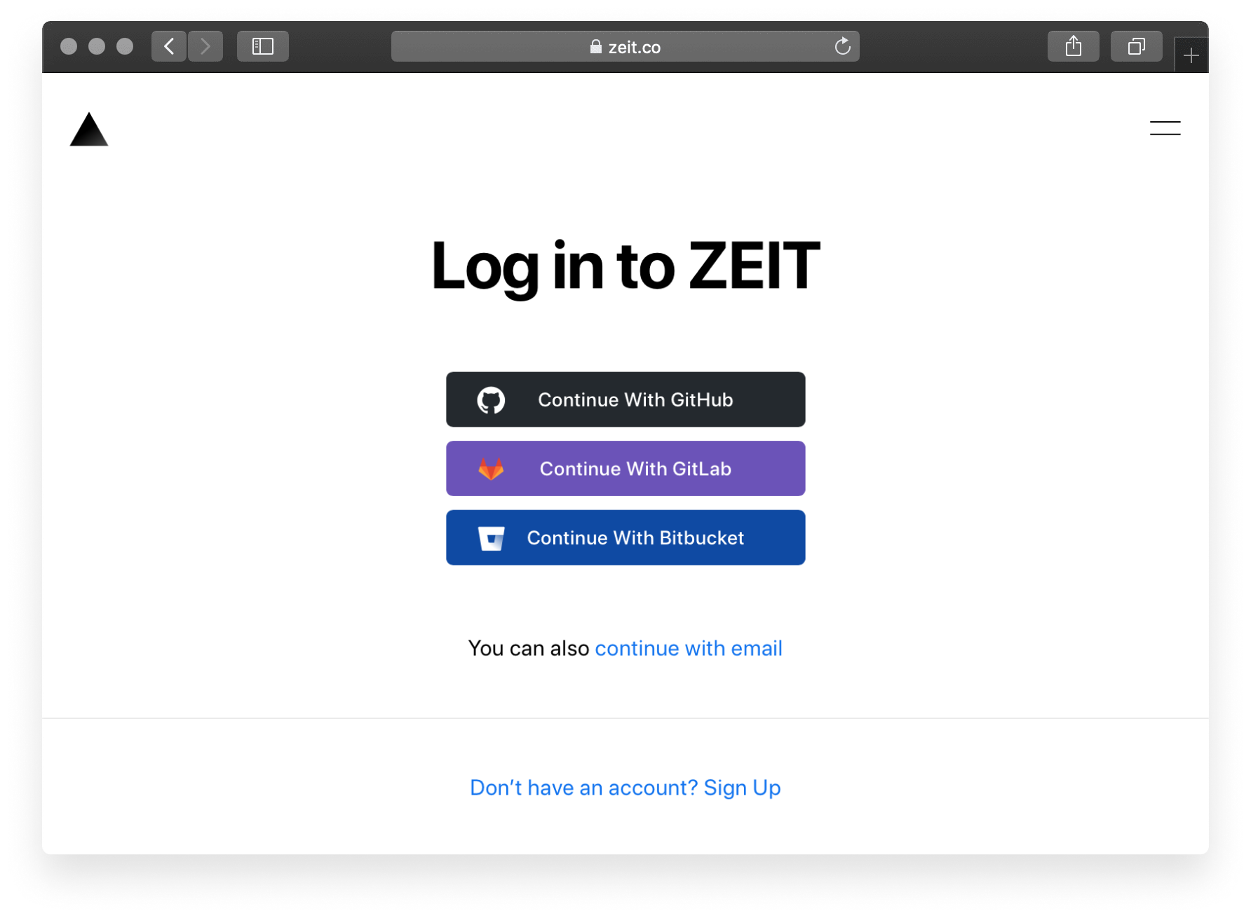Once you connect Bitbucket, you also activate the ability to Log In to Vercel with Bitbucket.