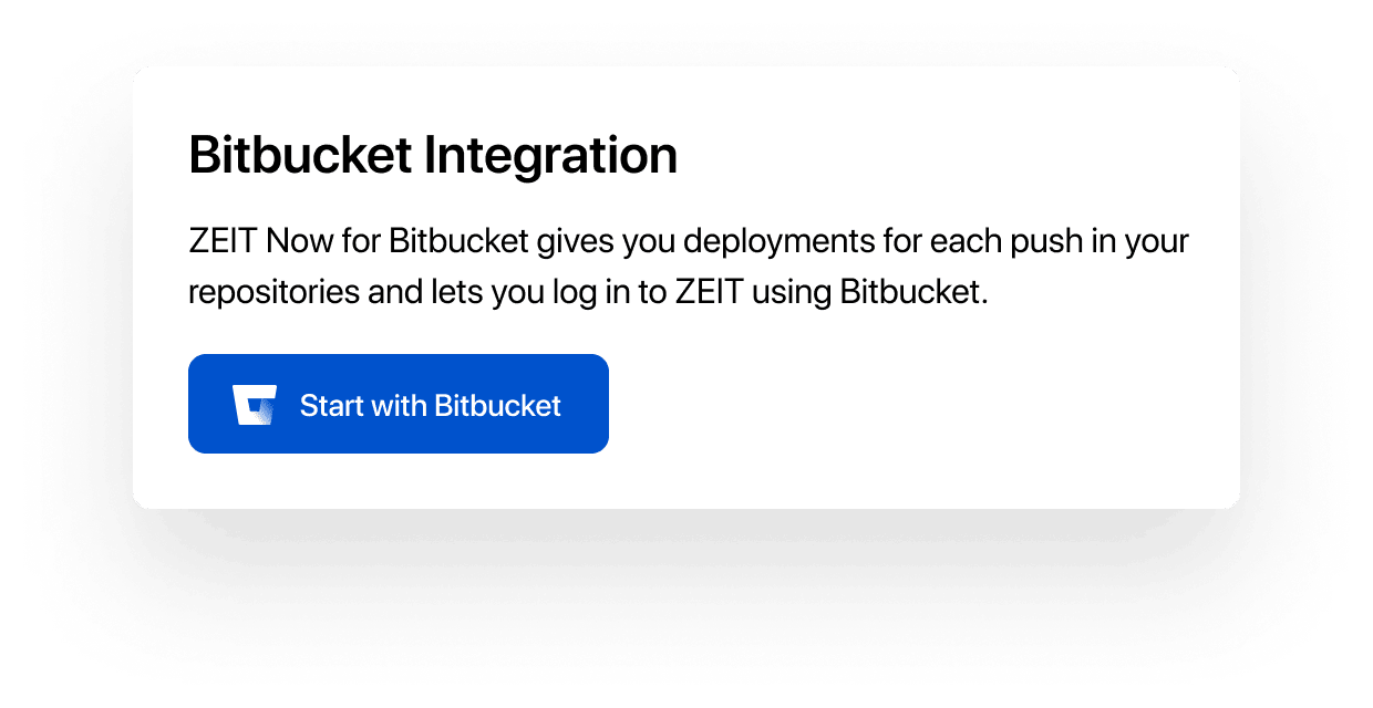 Connect your individual or team account with Bitbucket.
