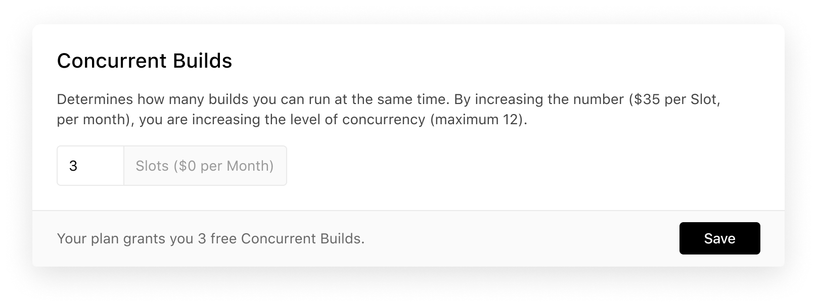 Increasing the amount of Concurrent Builds.