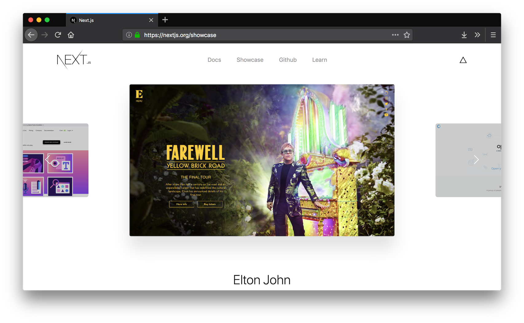 Showcase of projects built with Next.js