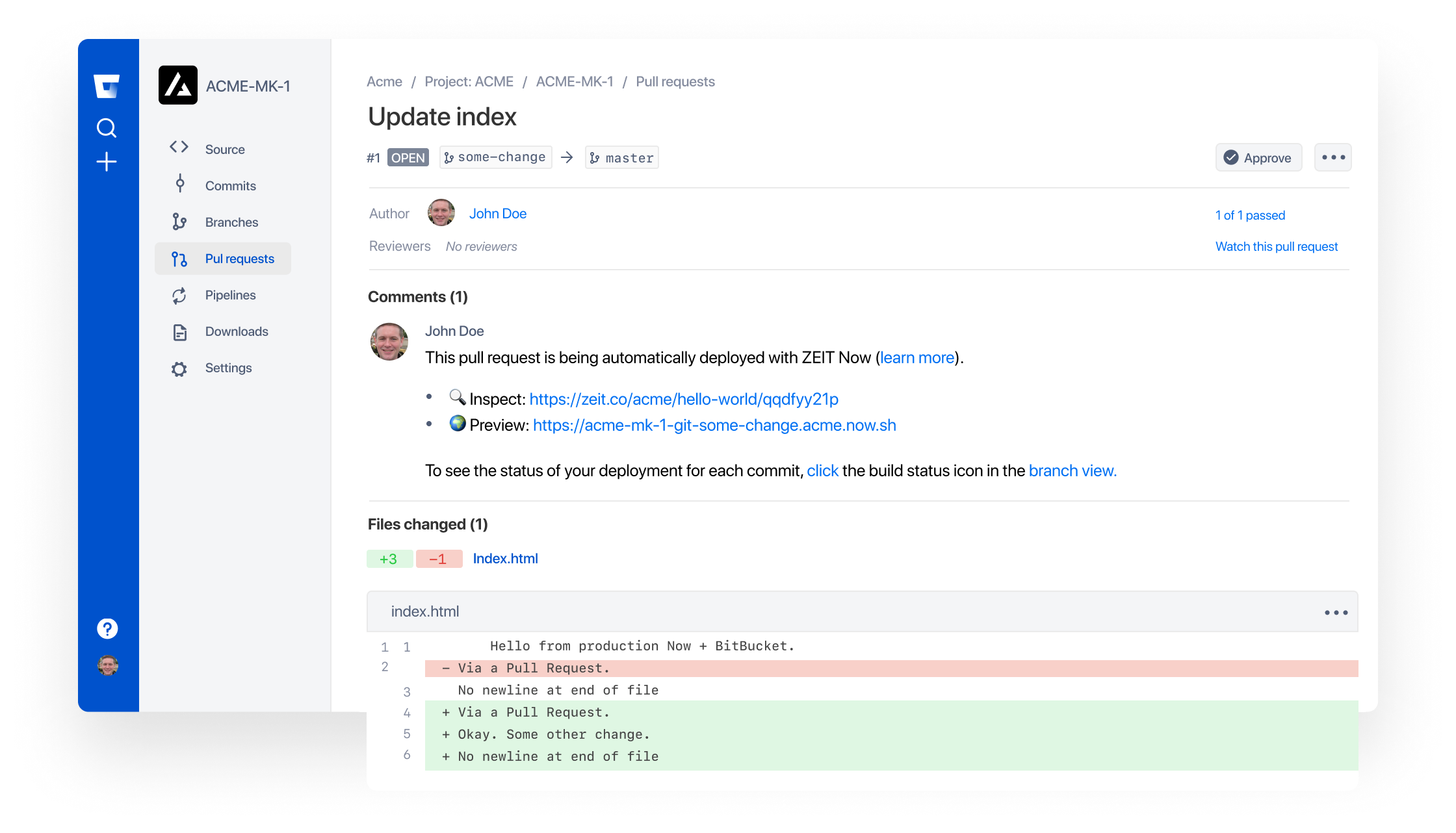 Commits pushed to Bitbucket are automatically built and deployed with Vercel.