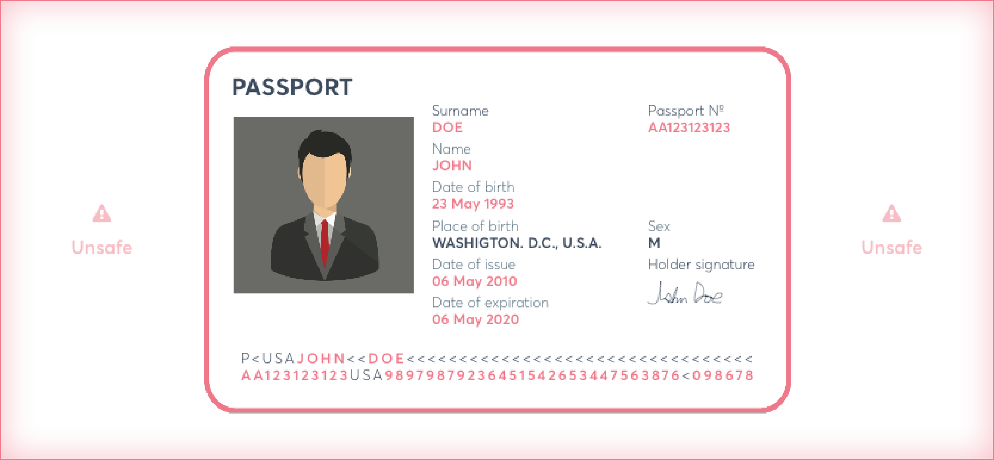 Unredacted passport